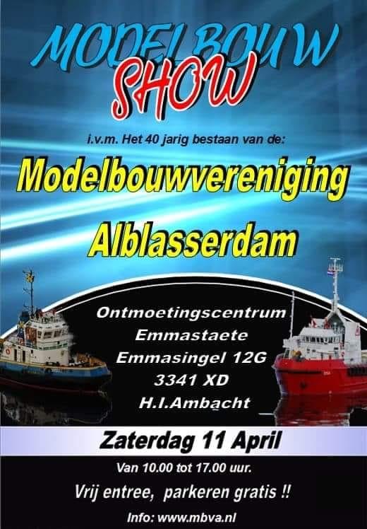 [AFGELAST] Modelbouwshow, Modelbouwvereniging Alblasserdam 2020 @ Ontmoetingscentrum Emmastaete